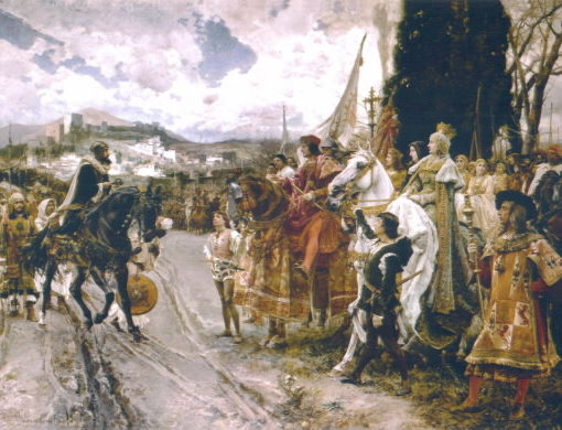 """""""La Rendición de Granada"""", Francisco Pradilla. Palacio del Senado, Madrid"""